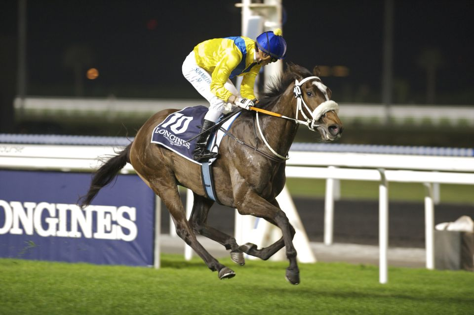 Mahbooba, winning in Dubai. (Andrew Watkins).