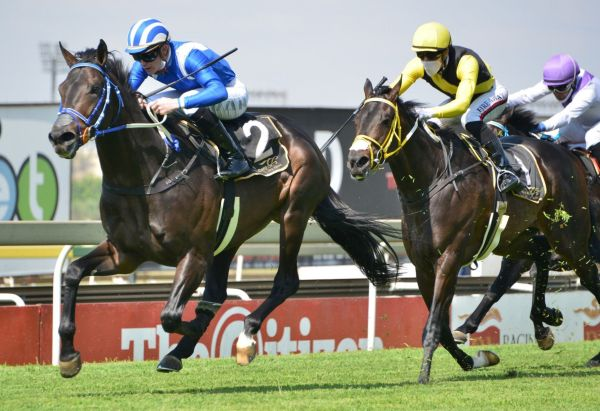 Malmoos shook of his useful stablemate Forever Mine, late in the race.